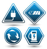 Road signs eco drive. Eco friendly icon. Royalty Free Stock Photos
