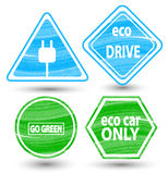 Road signs eco drive. Royalty Free Stock Photo