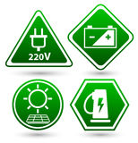 Road signs eco drive. Green eco icon. Royalty Free Stock Image