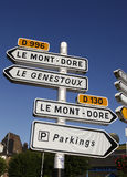 Road signs in France - Auvergne Royalty Free Stock Photos