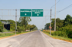 Road signs in Guatemala Royalty Free Stock Photo