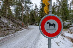 Road signs for horses Royalty Free Stock Photography