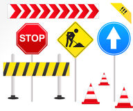 Road Signs Illustration Royalty Free Stock Photography