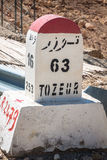 Road Signs In Tunisia, Which Show The Direction For The Tozeur Stock Image