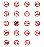 Road Signs & Indicators. Accurate Traffic/Road Signs & Indicators Stock Photo