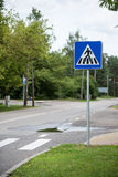 Road signs and lines on asphalt Stock Image