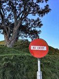 Road signs - no entry Stock Photo