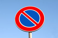 No parking. Road signs Stock Photos