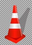 Road signs. Orange Badge guardrails on transparent background. Vector Illustration. Royalty Free Stock Photos
