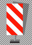 Road signs. Orange Badge guardrails on transparent background.  Royalty Free Stock Images