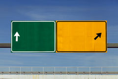 Road signs over overpass Stock Photography