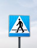 Road signs: pedestrian crossing stock image