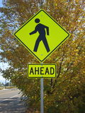Road Signs. For pedestrians and drivers on a road royalty free stock photo