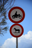 Road signs. Prohibitory signs.Road signs in Israel Stock Photos