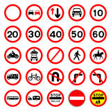 Road Signs - Red Round. Royalty Free Stock Image