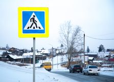 Road signs on street poles
