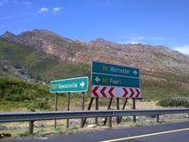 Road Signs - Western Cape, South Africa. Road signs in the rural area of the Western Cape royalty free stock photography