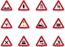 Road signs set Stock Photography