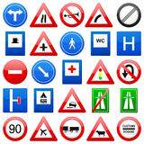 Road signs set. On a white background royalty free illustration