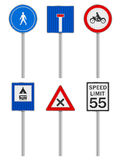 Road signs set Royalty Free Stock Images