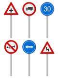 Road signs set Royalty Free Stock Image