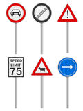 Road signs set Royalty Free Stock Photography