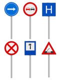 Road signs set Stock Photos