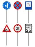 Road signs set Royalty Free Stock Photos