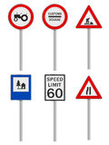 Road signs set Royalty Free Stock Photo