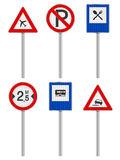 Road signs set Stock Images