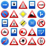 Road signs set Stock Image