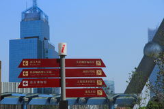 Road signs in Shanghai Royalty Free Stock Image