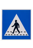 Road signs 22. Road sign. Warning, people crossing the street Stock Photography
