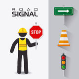 Road signs. Stock Images