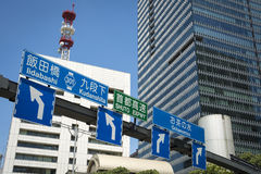 Road signs Tokyo Stock Image
