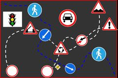 Road signs. Traffic icon, road signs blank, road signs circle blank Royalty Free Stock Images