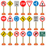 Road Signs, Traffic Signs, Transportation, Safety, Travel Royalty Free Stock Image
