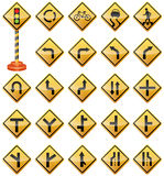 Road Signs, Traffic Signs, Warning Signs, Transportation, Safety. Vector Illustration of Road Signs. Best for Transportation, Safety, Travel, Signs and Symbols Royalty Free Illustration