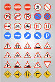 Road Signs. Traffic, road signs - vector format royalty free illustration