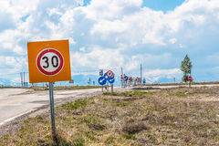 Road signs in Turkey Royalty Free Stock Image