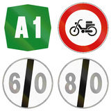 Road signs used in Italy Stock Photo