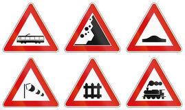 Road signs used in Italy Stock Photos