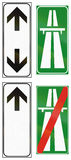 Road signs used in Italy Royalty Free Stock Images
