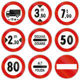 Road signs used in Italy Stock Images