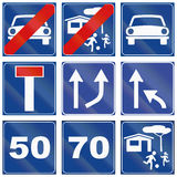Road signs used in Italy. Collection of road signs used in Italy vector illustration