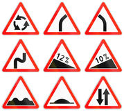 Road signs used in Russia Stock Photography