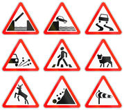 Road signs used in Russia Royalty Free Stock Photo