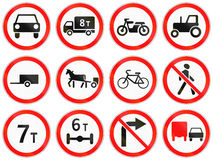 Road signs used in Russia. Collection of road signs used in Russia Stock Image