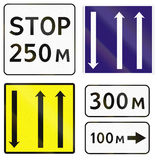 Road signs used in Russia Royalty Free Stock Images