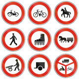 Road signs used in Slovakia. Collection of road signs used in Slovakia Royalty Free Stock Photo